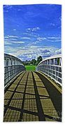 Crossing Over Bridge Beach Towel