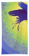 Crow, 1999 Gouache On Paper Beach Towel