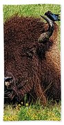 Crowded Hump L Beach Towel