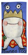 Crowned Tooth Beach Towel by Anthony Falbo
