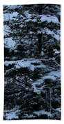 Crows Perch - Snowstorm - Snow - Tree Beach Towel