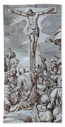 Crucifixion Beach Towel by Johann or Hans von Aachen