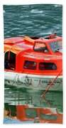Cruise Ship Tender Boat  Beach Towel