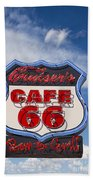 Cruisers Cafe 66 Sign Beach Towel