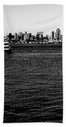 Cruising Elliott Bay Black And White Beach Towel