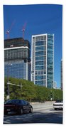Cruising North On Lake Shore Drive In Chicago Beach Towel