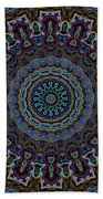 Crushed Blue Velvet Kaleidoscope Beach Towel