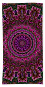 Crushed Pink Velvet Kaleidoscope Beach Towel