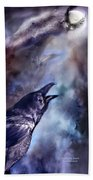 Cry Of The Raven Beach Towel