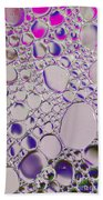 Crystal Pink Abstract Beach Towel