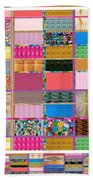 Crystal Stone Collage Layered In Small And Medium Sizes Variety Of Shades And Tones From Reiki Heali Beach Towel