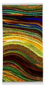 Crystal Waves Abstract 2 Beach Towel