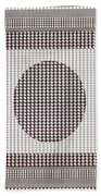 Crystal White And Gray Dots Design Pattern Shade Deco Decoration Beach Towel