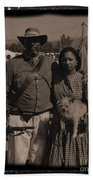 Csa Cavalryman And Wife Beach Towel