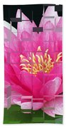 Cubed Lily Beach Towel