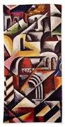 Cubist Cityscape, 1914 Beach Towel