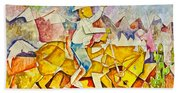 Cubist Cowboy Beach Towel