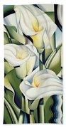 Cubist Lilies Beach Towel