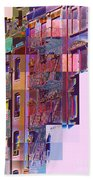 Colorful Old Buildings Of New York City - Pop-art Style Beach Towel