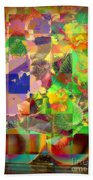 Flowers In Round Bowls - Outdoor Markets Of New York City Beach Towel