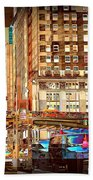 Grand Central And 42nd St Beach Towel