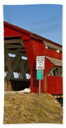 Culbertson Or Treacle Creek Covered Bridge Beach Towel