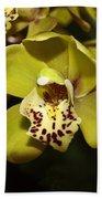 Cumbidium Orchid Beach Towel