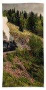 Cumbres And Toltec Train Co And Hm Beach Towel