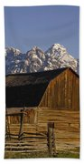 Cunningham Cabin Grand Tetons Wyoming Beach Towel