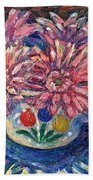Cup Of Flowers Beach Towel
