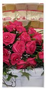 Cupcakes And Roses Beach Towel by Terri Waters