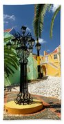 Curacao Colorful Architecture Beach Towel