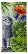 Curious Kiwi Beach Towel by Carolyn Steele