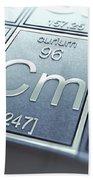 Curium Chemical Element Beach Towel