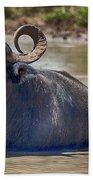 Curly Horns Beach Towel