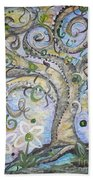 Curly Tree In Fantasy Land Beach Towel