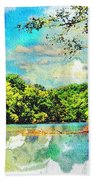 Current River Mo - Digital Paint II Beach Towel