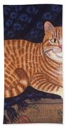 Curry The Cat Beach Towel