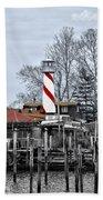 Curtin's Wharf Burlington New Jersey Beach Towel