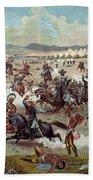 Custer's Last Charge Beach Towel