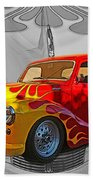 Custom Flames Beach Towel