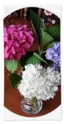 Cut Hydrangeas Beach Towel