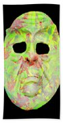 Cut Out Mask Beach Towel