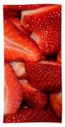 Cut Strawberries Beach Towel