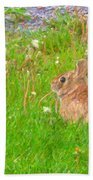 Cute And Fluffy - Digital Painting Effect Beach Towel