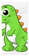 Cute Illustration Of Tyrannosaurus Rex Beach Towel