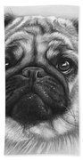 Cute Pug Beach Towel