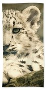 Cute Snow Cub Beach Towel
