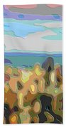 Cutout Art Ocean Skyline Beach Towel