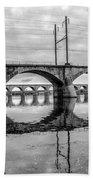 Cv - Susquehanna River Bridge Harrisburg  Pennsylvania In Black  Beach Towel